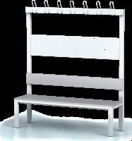 Šatní lavice s věšáky (7 velkých a 14 malých)