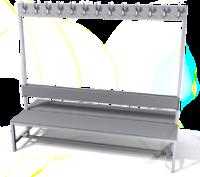 Oboustranná lavice s věšáky - lamino deska SLO 200 V S